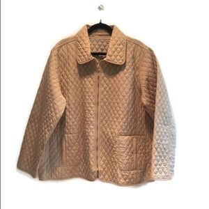 Bill Blass fully reversible quilted jacket,size 1X